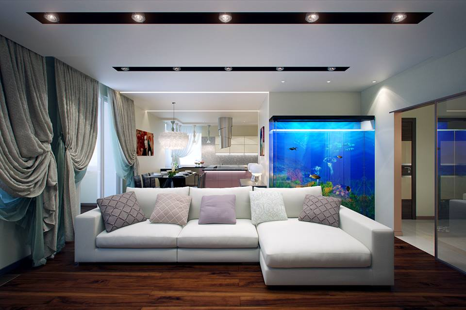 Amazing Aquarium In Living Room
