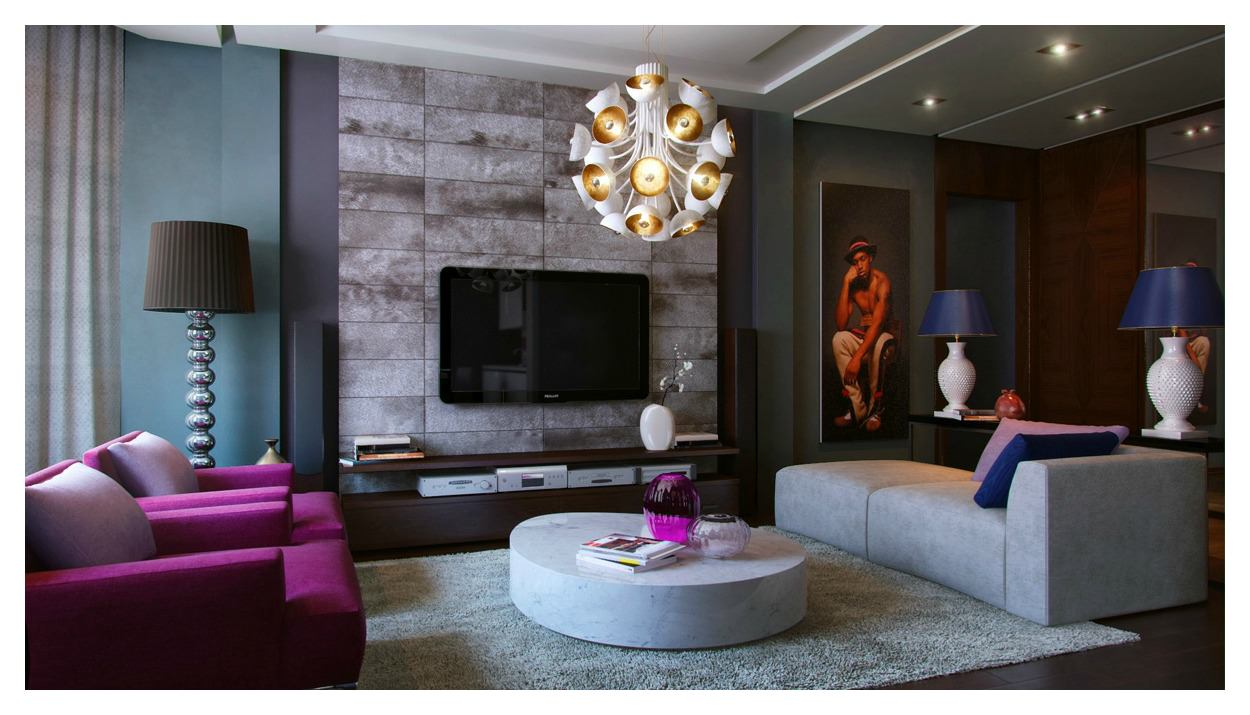 Amazing Chandelier In Living Room (Image 1 of 10)