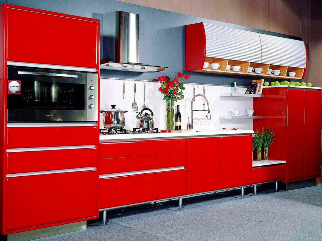 Antique Red Kitchen Ideas (Image 1 of 10)