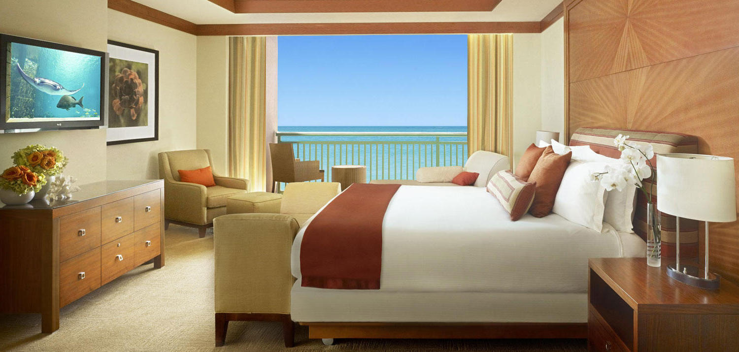 Bahama Atlantis Bridge Suite Bedroom Interior