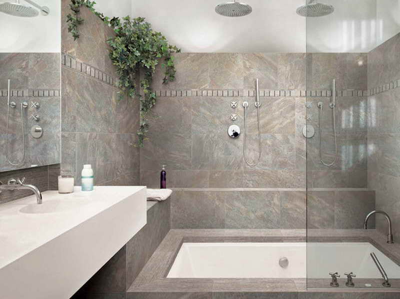 Bathroom Concepts For Small Bathrooms Tiles With Grey Ceramic Wall (Image 1 of 15)