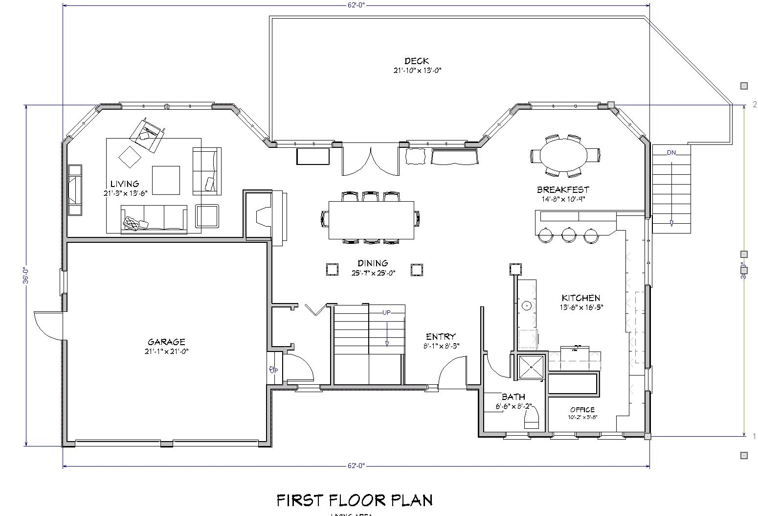 Beach House Plan 1st Floor (Image 3 of 10)
