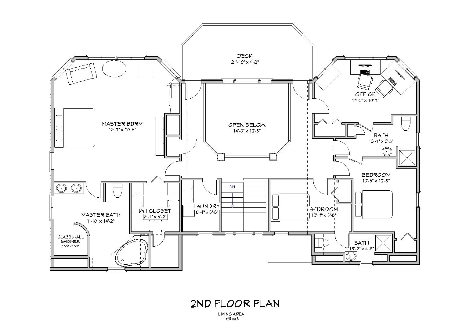 Beach House Plan 2nd Floor (Image 4 of 10)