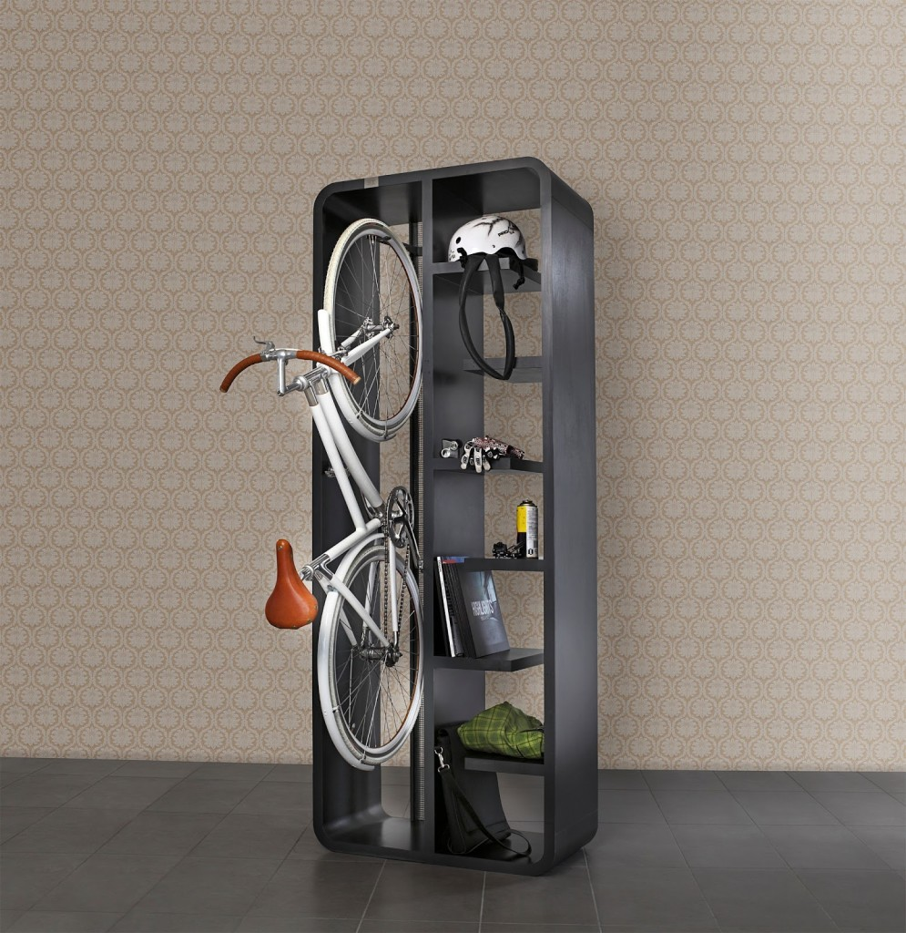 Bike Indoors Storage Cabinet Design Ideas