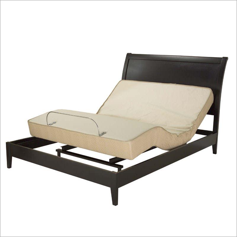 Black Adjustable Bed Frame (Image 3 of 10)