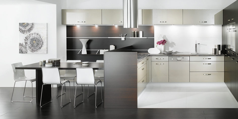 Black And White Rooster Kitchen Design