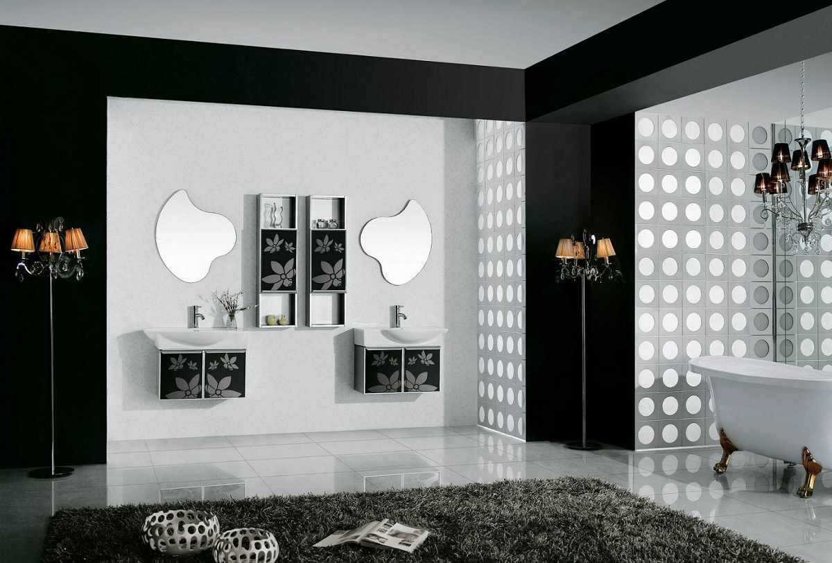 Black And White Shower Room Ideas