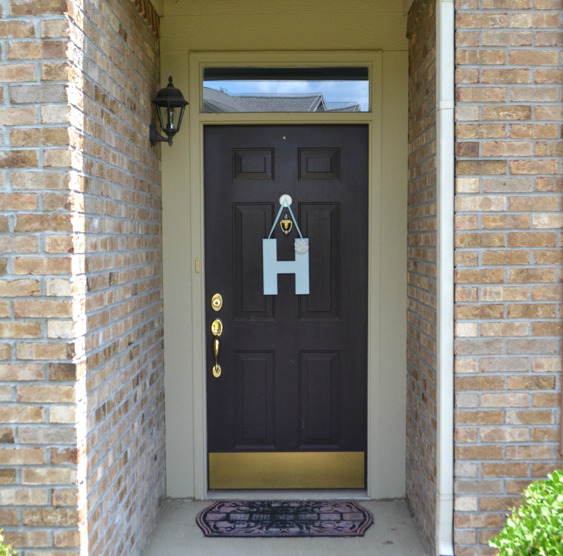 Brown Dark Painting Exterior Door
