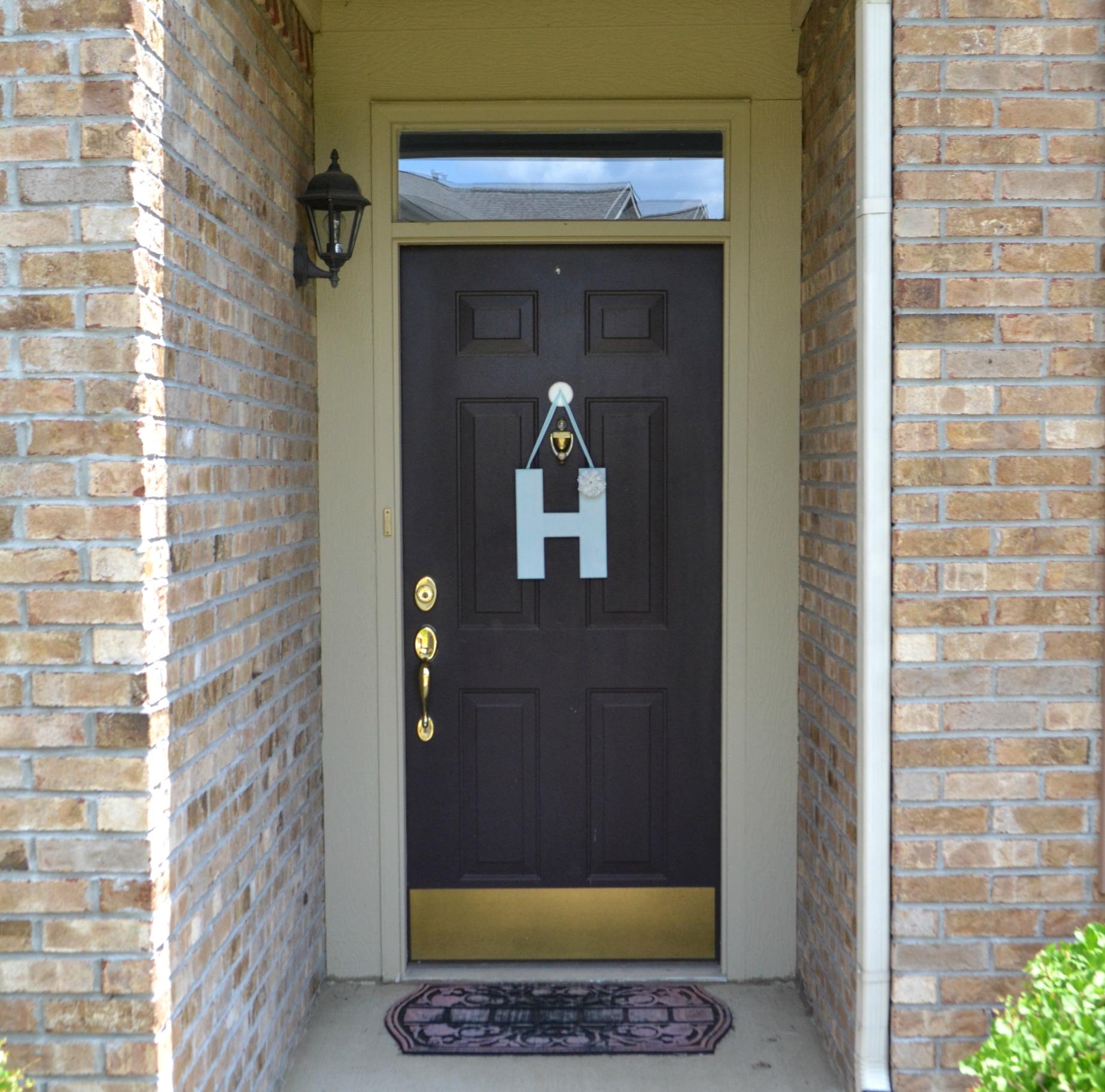 Brown Dark Painting Exterior Door (View 2 of 10)