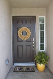 Brown Painting Exterior Door (Image 3 of 10)
