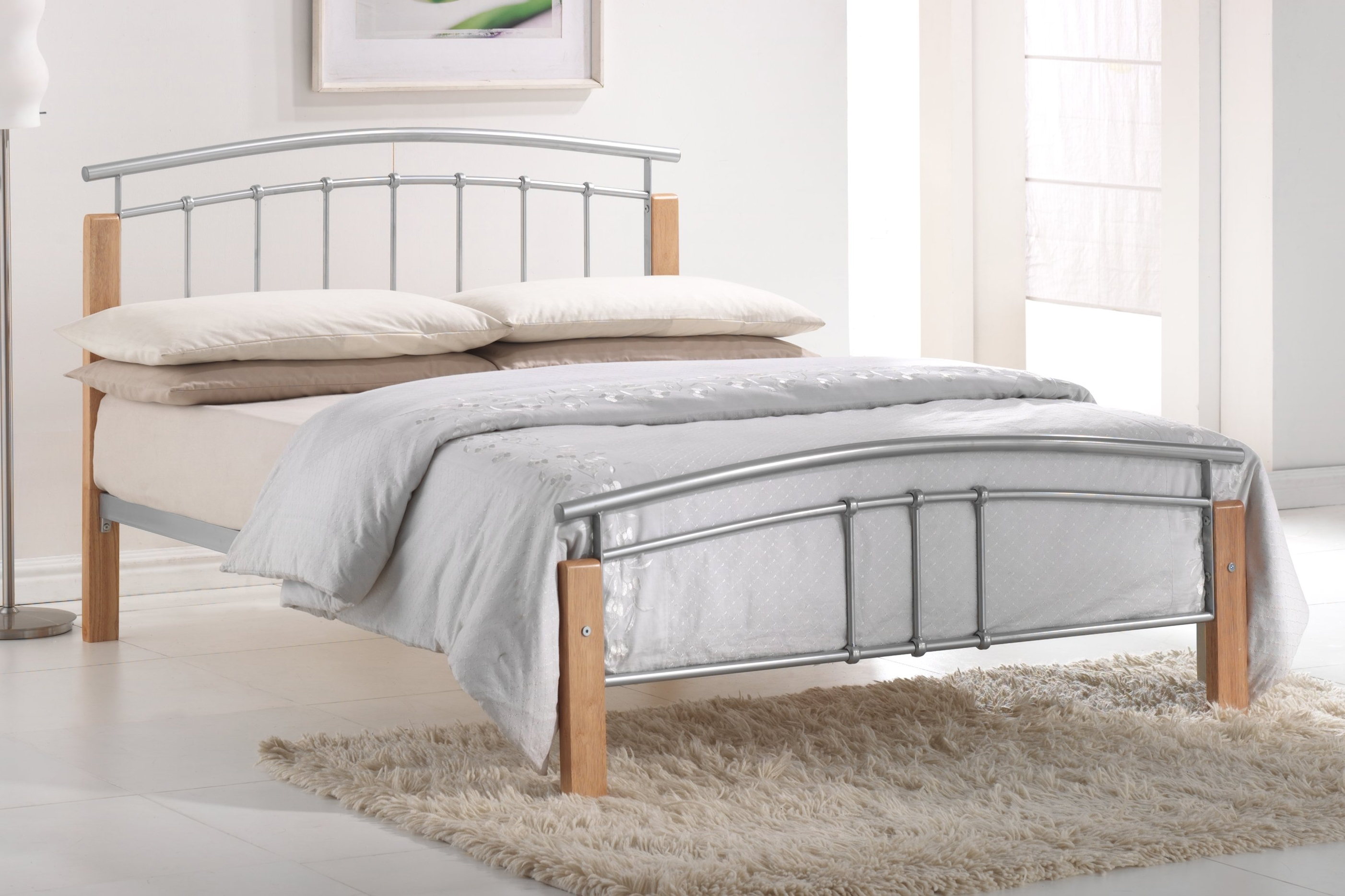 Featured Photo of Shopping For Silver Bed Designs Online