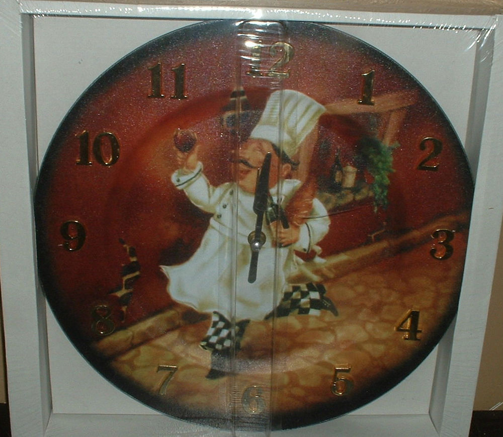 Chef Kitchen Clock (Image 1 of 11)