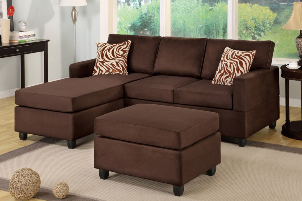 Chocolate Sectional Couch Sofa (View 4 of 18)
