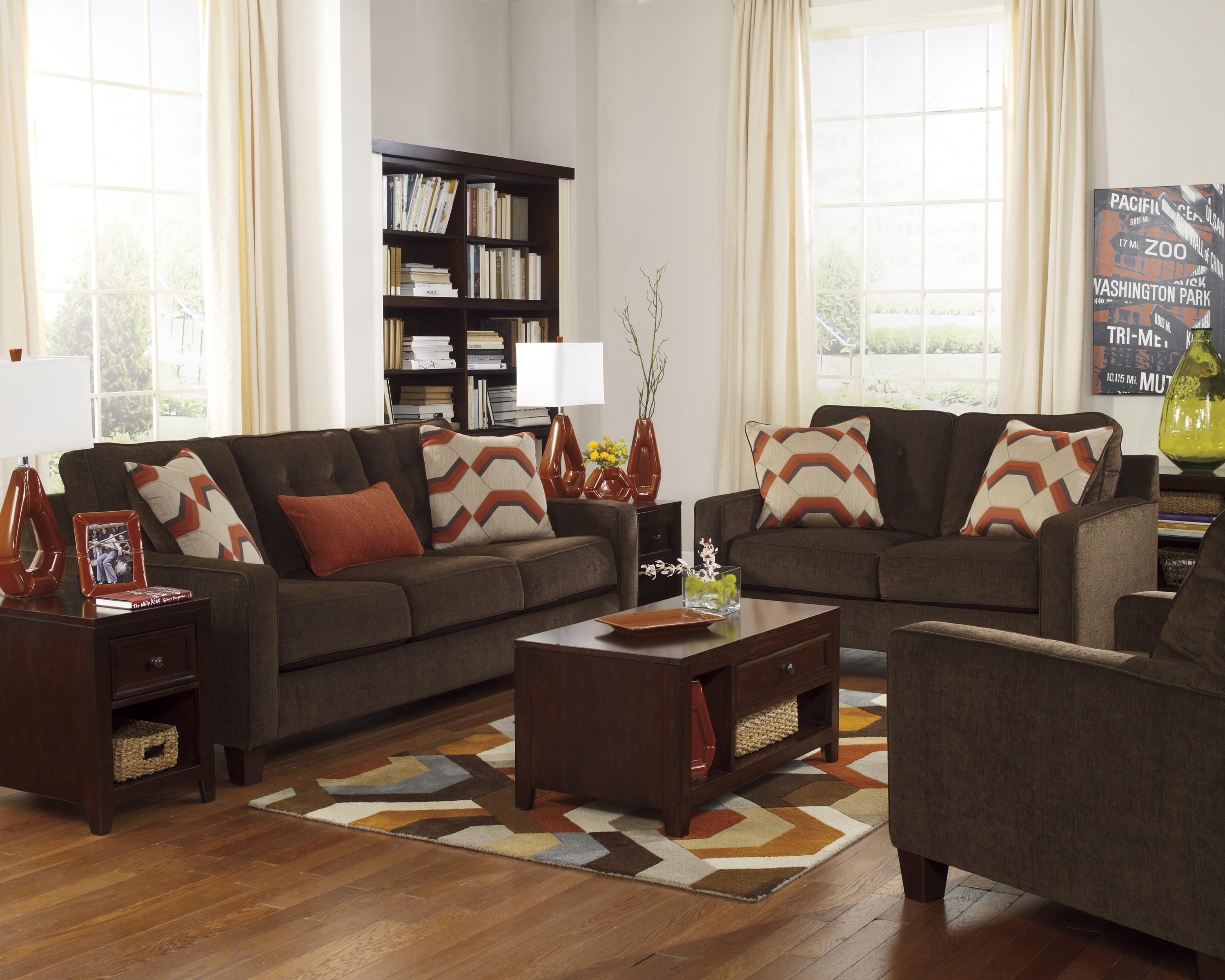 Inserting Chocolate Sofa For Living Room Custom Home Design