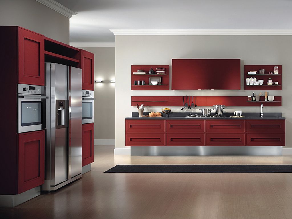 Classic Red Kitchen (View 10 of 10)