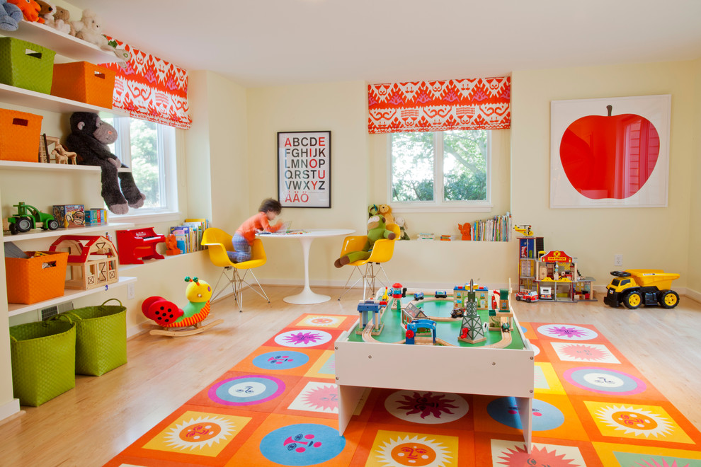 Colorful Kids Playroom Interior
