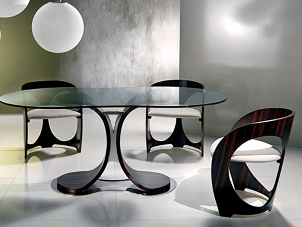 Contemporary Dining Table (Image 4 of 11)