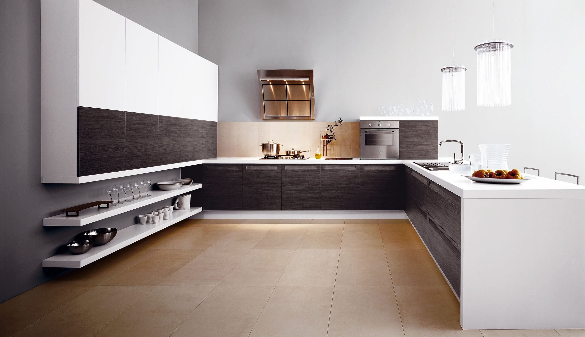 Contemporary Italian Kitchen Floors (Image 3 of 10)