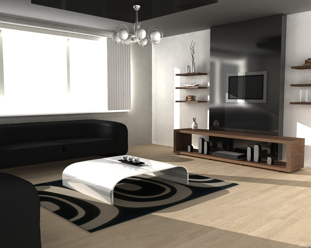 Contemporary Living Room (Image 1 of 10)