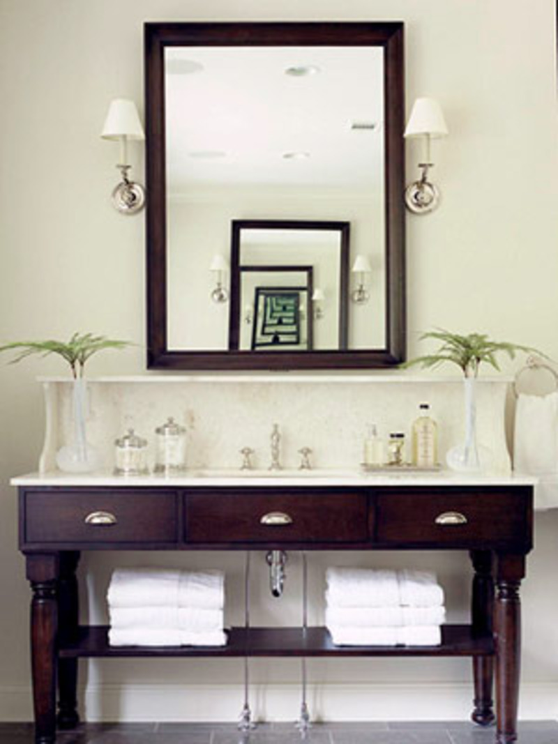 Couple Bathroom Vanity Furniture (Image 5 of 17)
