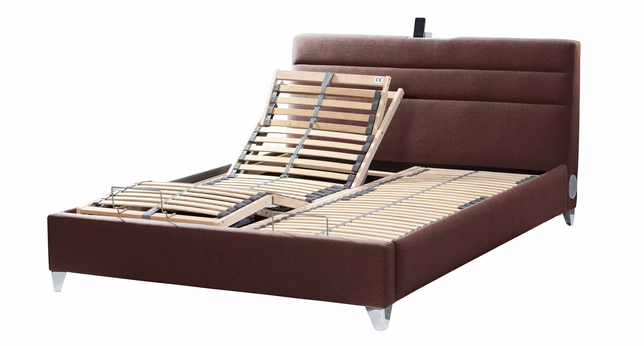 Couple Wooden Adjustable Bed Frame (Image 7 of 10)