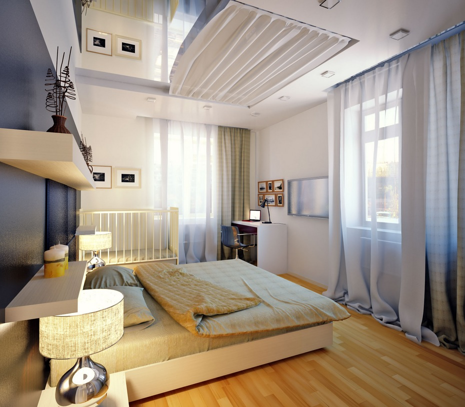 Cozy White Platform Bedroom (Image 11 of 22)