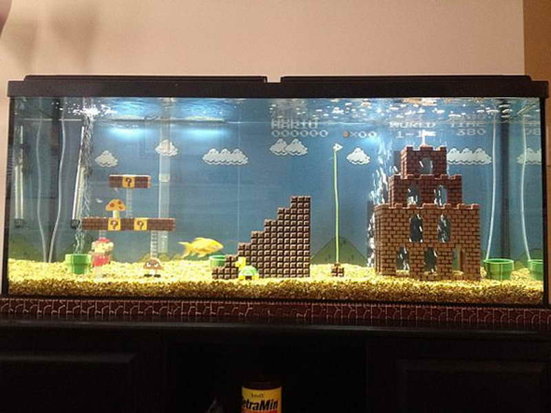 Creative Aquarium For Living Room (Image 8 of 21)