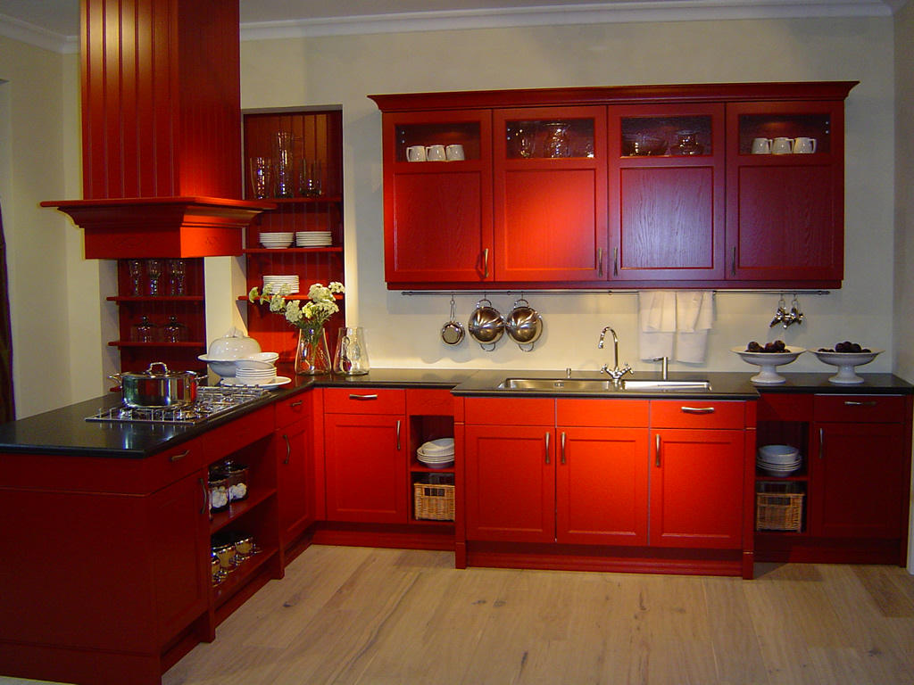 Creative Red Kitchen Ideas (Image 2 of 10)