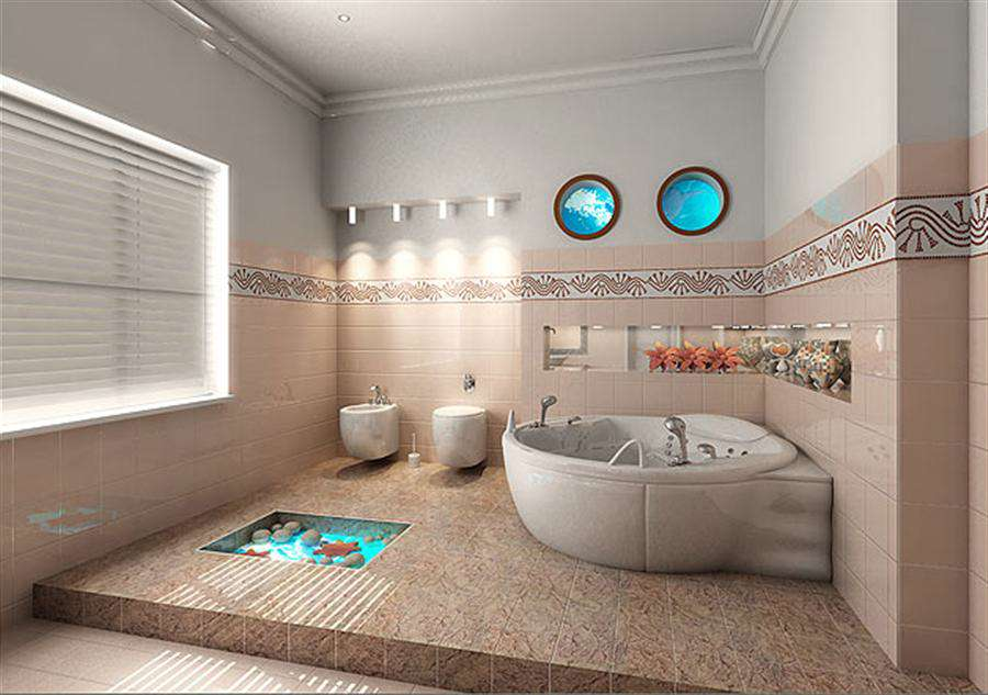 DIY Bathroom Wall Tile Ideas (Image 7 of 10)