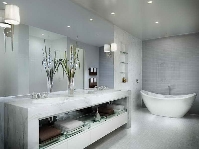 DIY Bathroom Wall Tile (Image 6 of 10)