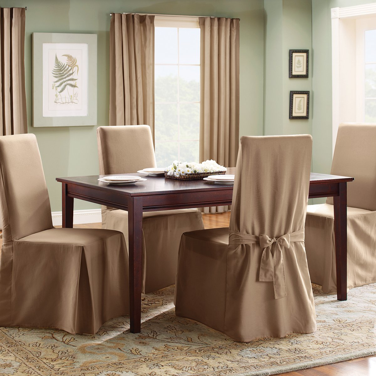 Dining Chair Slipcovers Dining Room (View 3 of 10)
