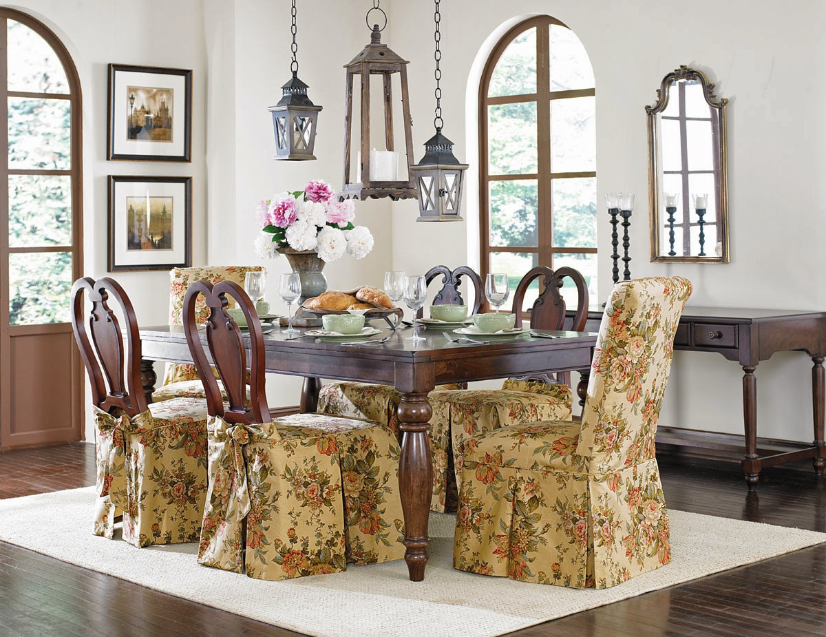 Dining Chair Slipcovers in Cardamom