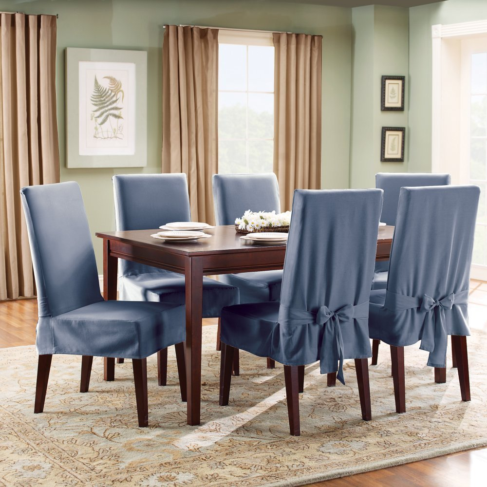 Dining Room Chair Slipcovers For On Budget Re-decoration | Custom ...