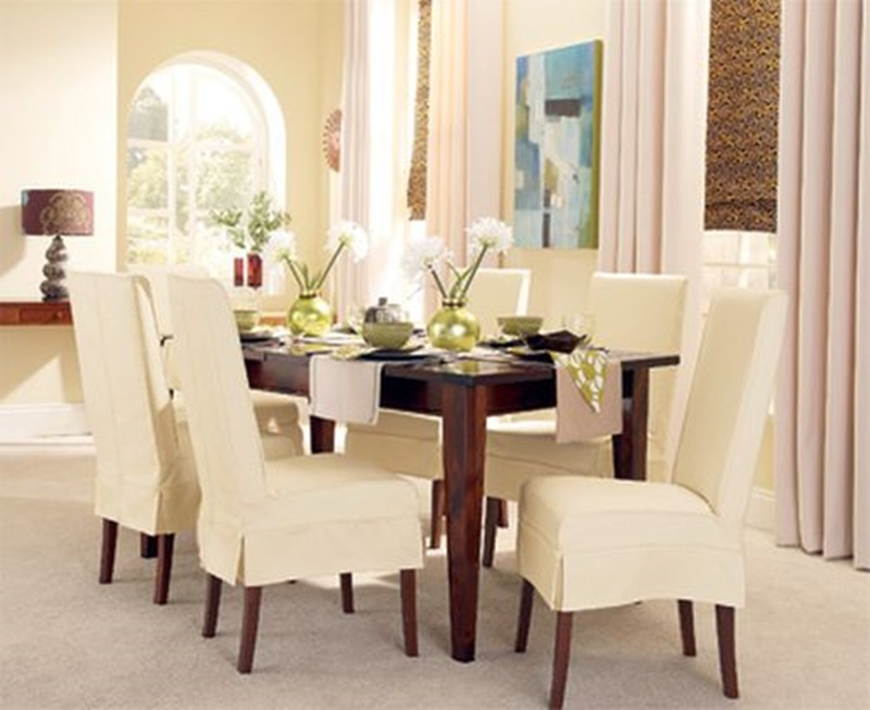 Dining Room Chair Slipcovers Cloths (View 7 of 10)