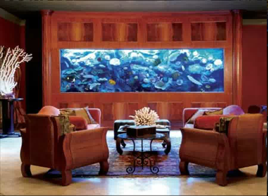 Elegant Aquarium In Living Room (Image 10 of 21)