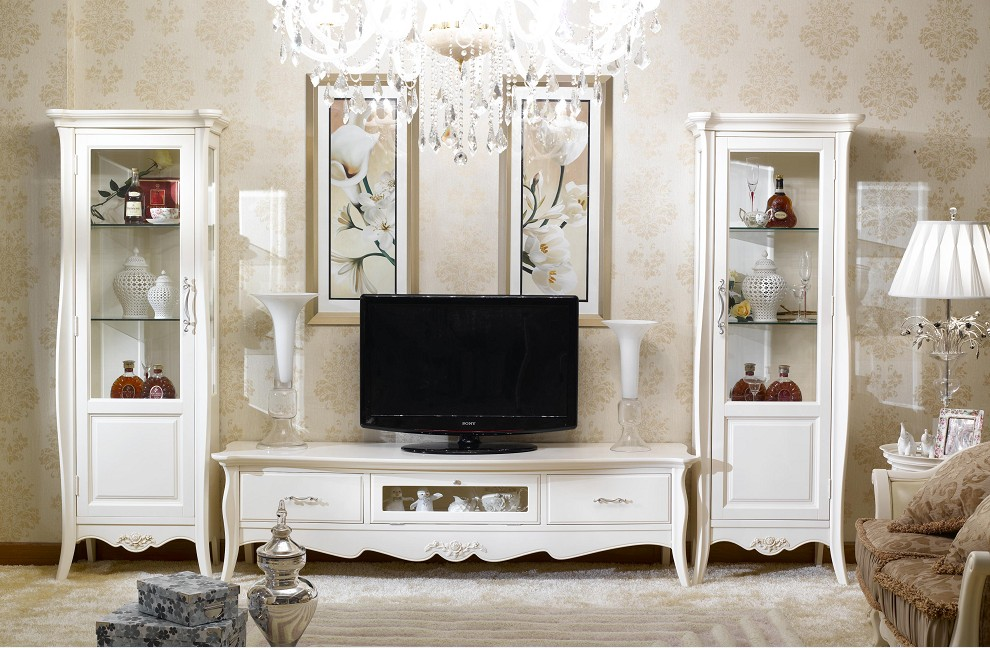 Elegant Flowers French Living Room Furniture
