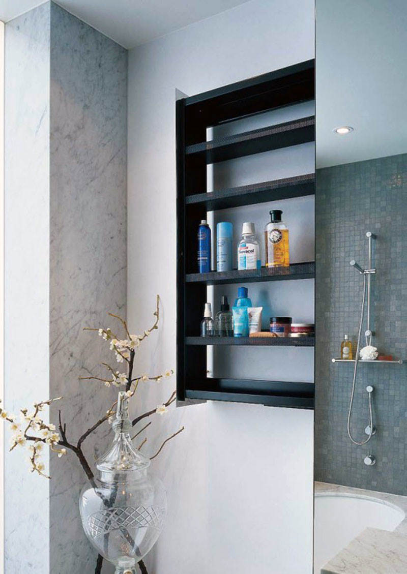 Elegant Wooden Cabinet For Small Bathroom Ideas
