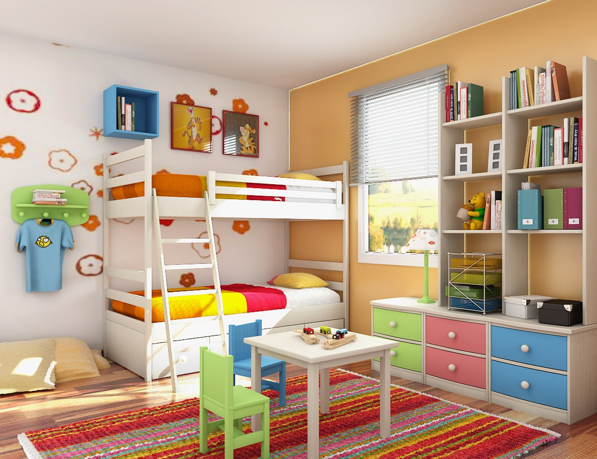 Full Color Kids Bedroom Design (View 7 of 10)