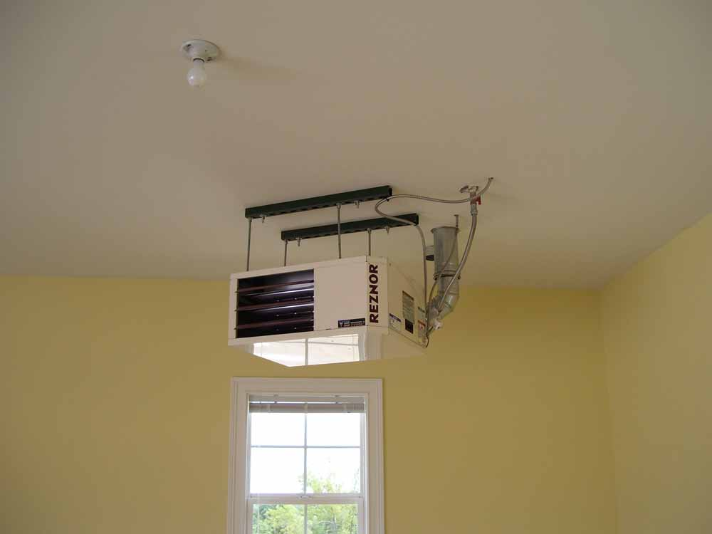 Garage Heater Ceiling Installation (Image 2 of 7)