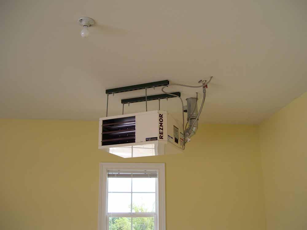 Garage Heater Ceiling Installation (View 2 of 7)