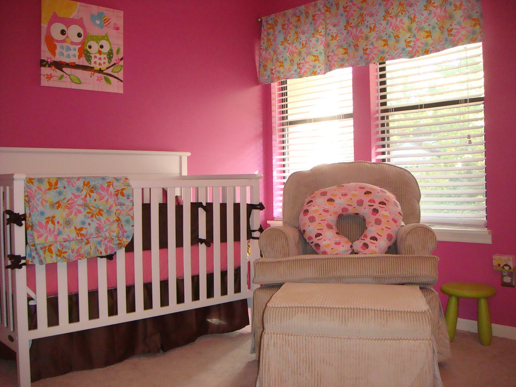 Girl Room Painting And Decorating Ideas Pinky Baby Girls Room Ideas (Image 3 of 10)