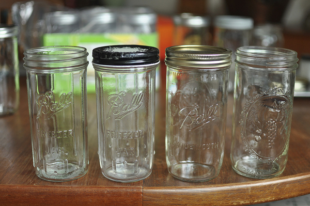 Glass Kitchen Canning Jar