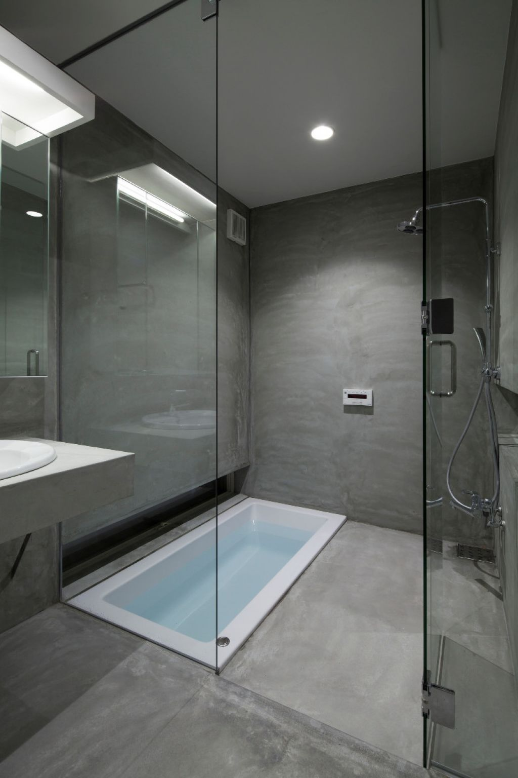 Gray Bathroom Design (Image 3 of 15)