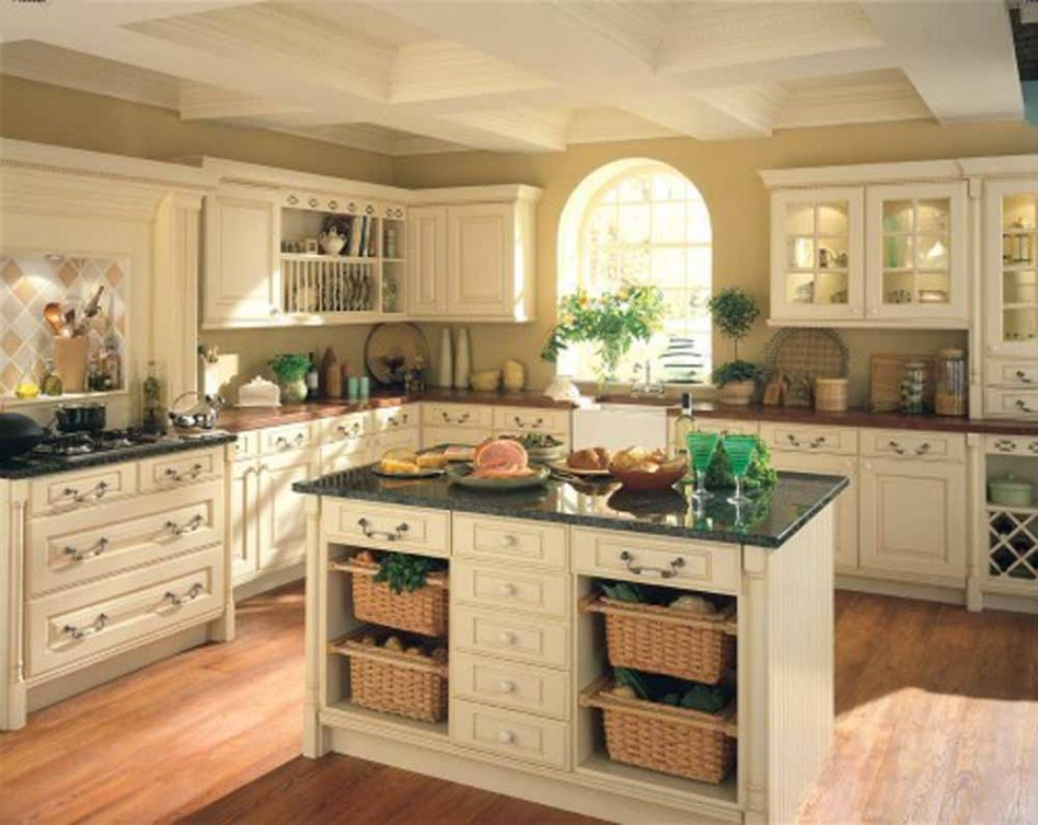 Green Marble Victorian Kitchen Decoration