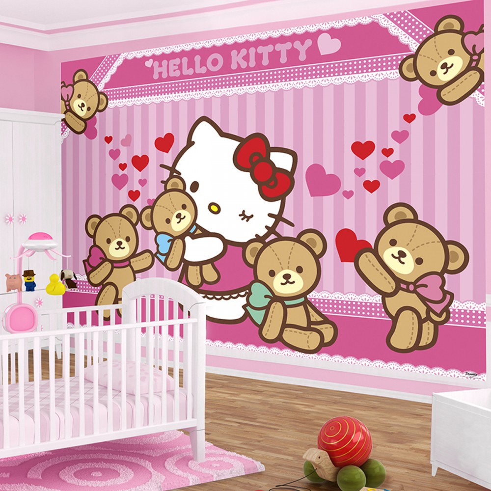 Hello Kitty Loves Bears Bedroom