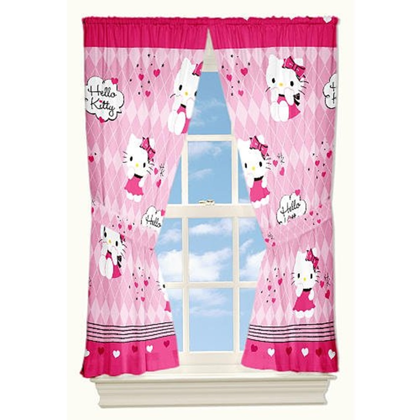 Hello Kitty Window Treatment (View 7 of 10)