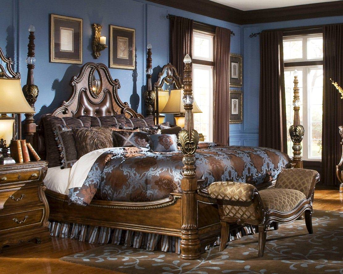 Perfect Intresting Bedroom By Michael Amini (Image 3 Of 10)