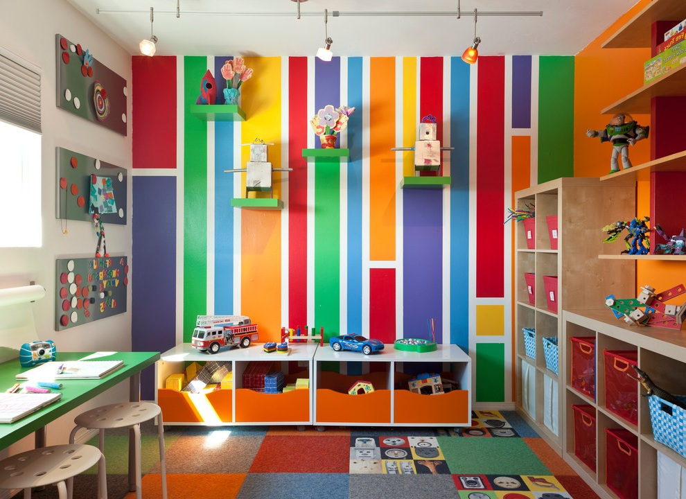 Kids Playroom Wall Decor and Furniture