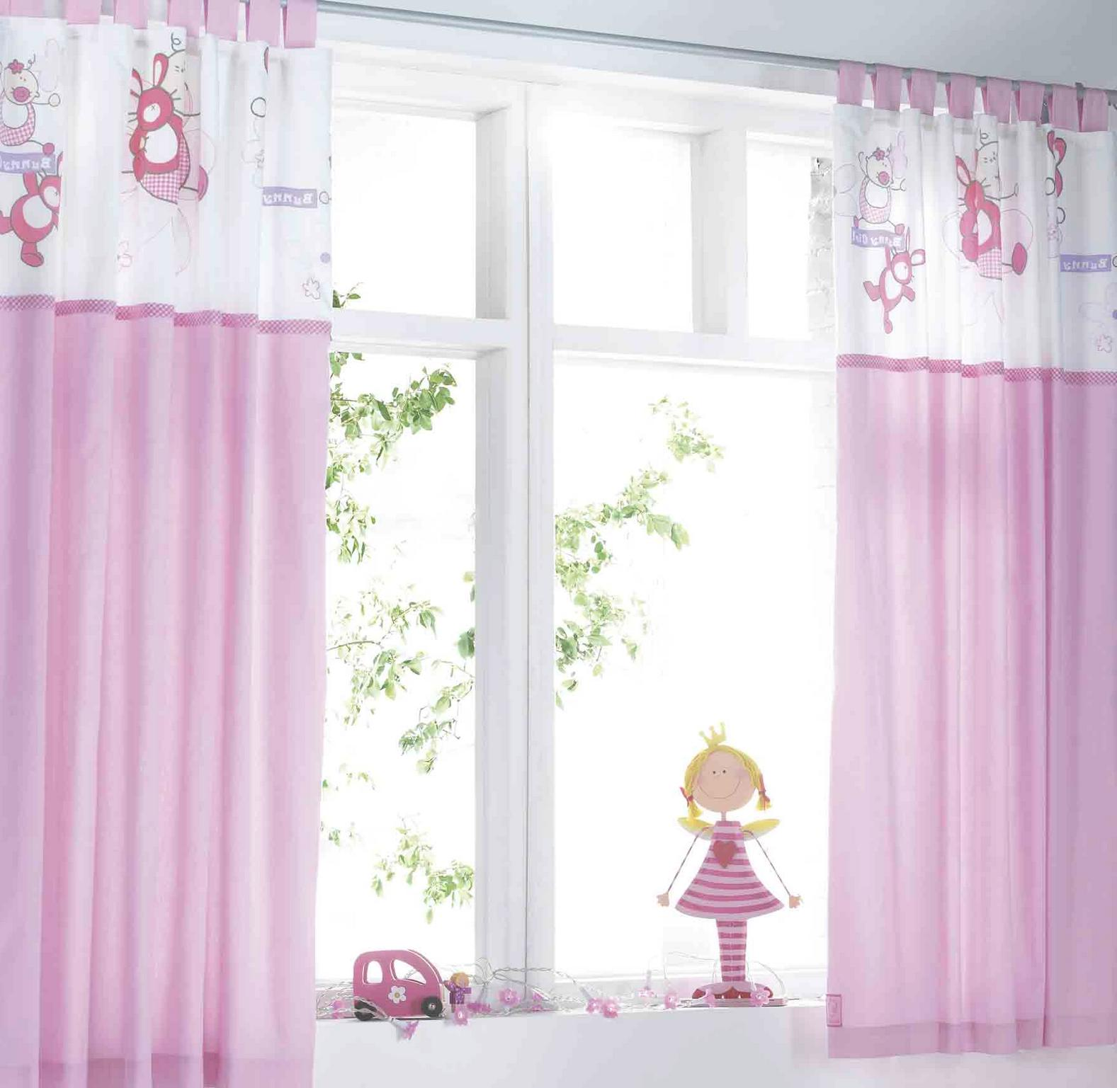 Cute window treatment kids bedroom curtains custom home design - Tende camera bimba ...