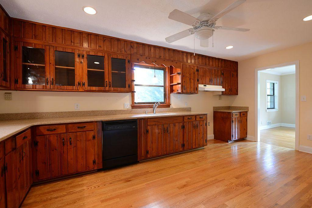 Knotty Pine Paneling Kitchen Cabinets